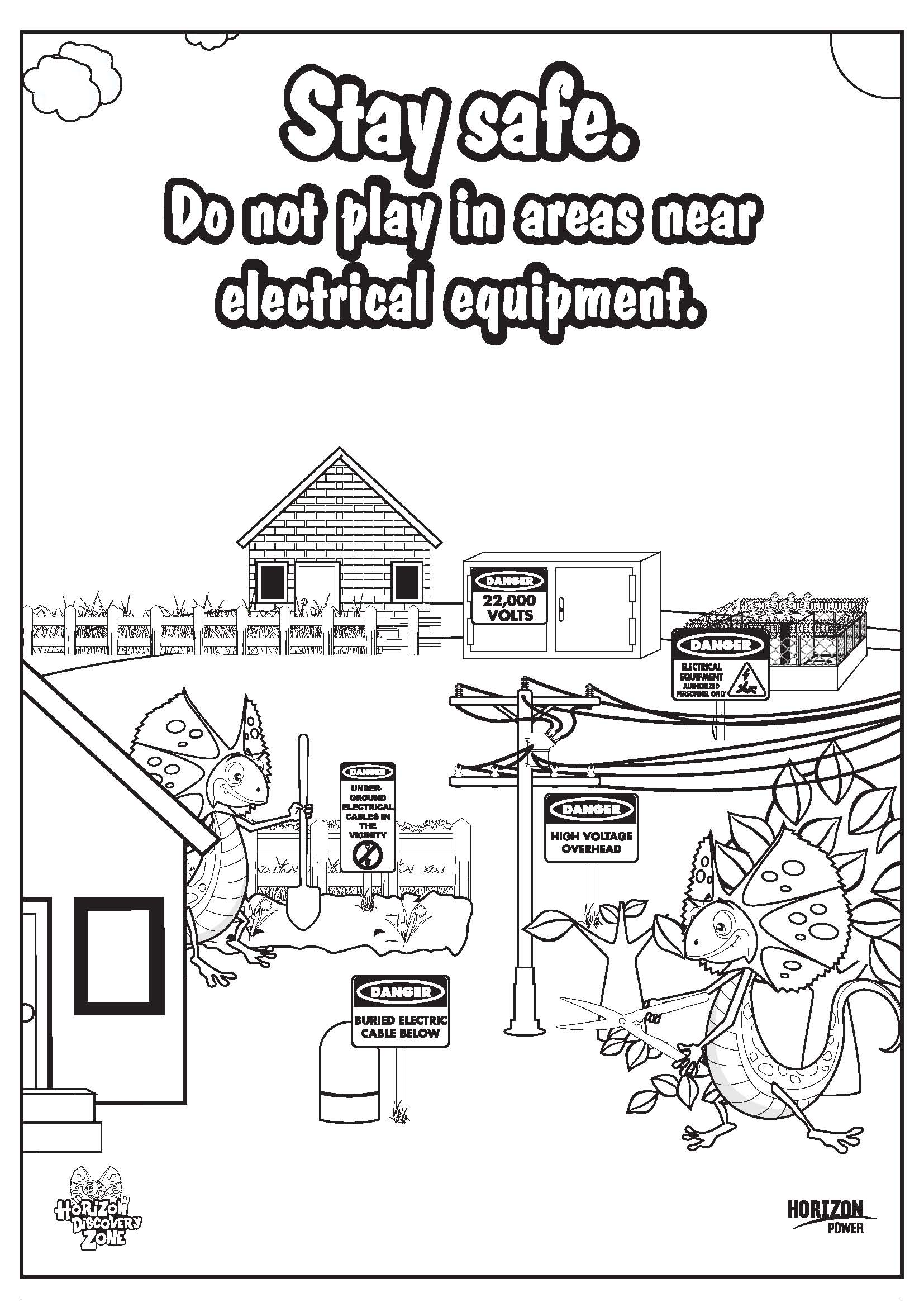 safety gear coloring pages - photo#43