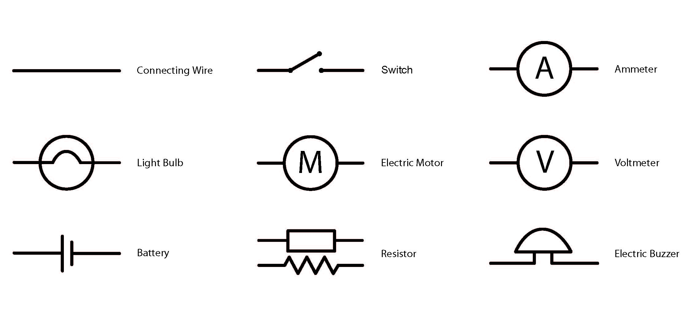 electrical schematic symbols for power point